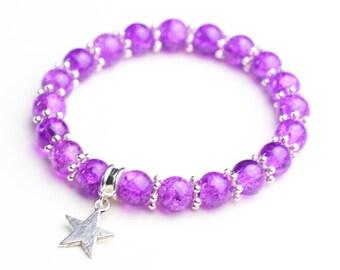 Bracelet elastic Purple Star