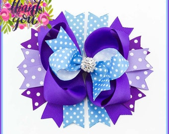 Plum Pretty Glitz Bow