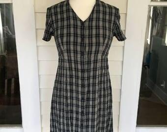 Vintage 90's Plaid Grunge Dress