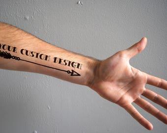 Your Custom Temporary Tattoo Design - Realistic Temporary Tattoo