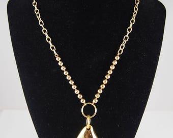 Vintage Golden Pendant with Vintage Chain
