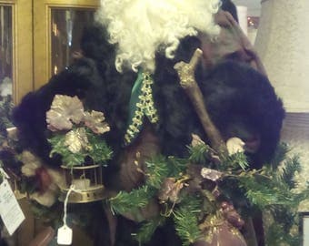 Handcrafted, Old World Santa. 27 in. tall Beautiful condition.