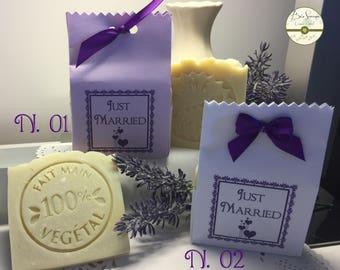 Handmade soaps. Set of 10. Customizable bag. Memory for 20, anniversary, birthday, graduation. wedding.