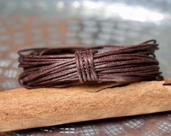 Waxed Cotton Cord, Chocolat Brown