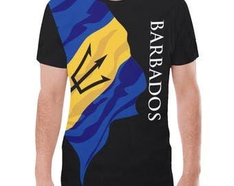 Barbados Men's Classic Flag Shirt 2.0