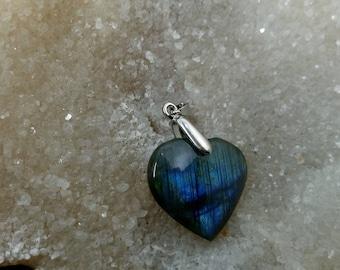 LABRADORITE blue 13,40 Gr-heart pendant