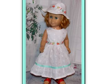 "Chatty Cathy Doll not included.  Clothes only, Sweet Eyelet Dress & Hat for 20"" tall dolls the size of the vintage Chatty Cathy dolls."
