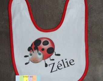 Personalized with child's name bib