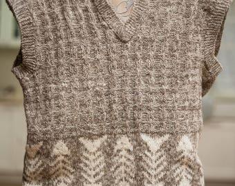 "Men's Knitted Wool Vest ""Carlsen"""