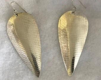Silver Point Earrings
