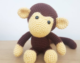 Handmade Amigurumi Crochet Monkey - Johnny the Monkey - Softie/Plush/Zoomigurumi/Toy