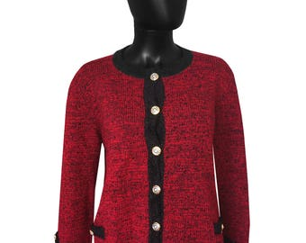 Fitted jacket red and black