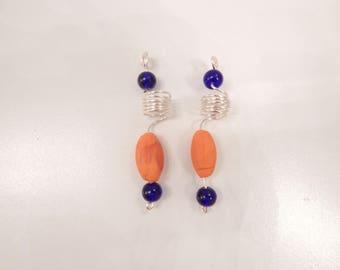 Orange & Blue Loc Jewelry