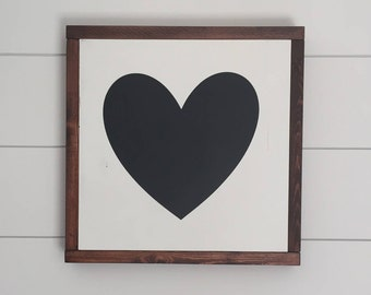 HEART wood sign