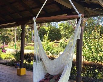 Natural White Hammock Chair