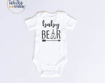 Baby Bear Infant Coming Home Outfit White Bodysuit (SKU 02)