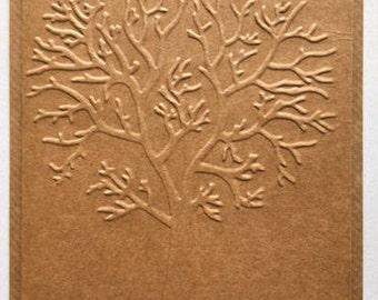 Tree Embossed Card Set - Blank inside