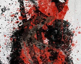 Deadpool art print poster