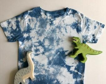 Hand-dyed Indigo Toddler T-Shirt; Toddler Boy Shirt; Toddler Girl Shirt; Unisex Toddler Shirt
