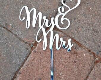 MRS MRS WEDDING Cake Topper Customized Wedding Cake Topper, Personalized Cake Topper for Wedding, Custom Personalized Wedding Cake Topper