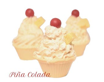 Piña Colada - Artisan Soap Cupcake