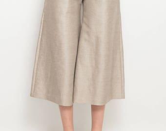 Palazzo pants in linen