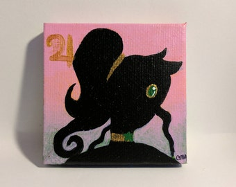 Sailor Jupiter Silhouette Mini Painting