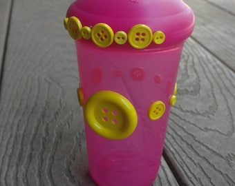 Pink and yellow Sippy Cup