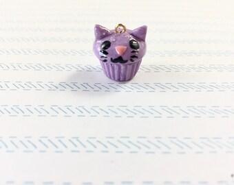 Cat Cupcake Earrings / Keychain / Charm