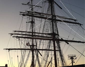 Tall Ship Sunset, Canning Dock, Liverpool - digital download