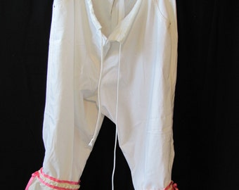 Upcycled Bloomers, pantalettes, drawers, stage costume, cosplay, knickers. historical, wagon train, (large or xL)