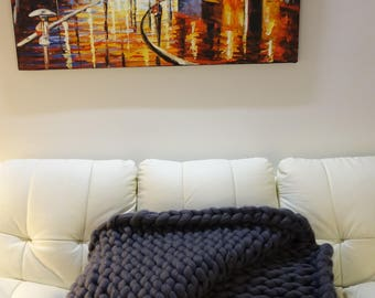 100% Australian Merino Wool Throw - Hand crafted in Australia