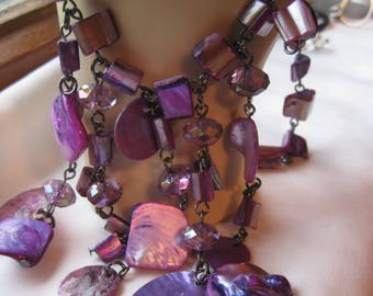 Abstract Purple Passion Necklace