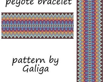 Peyote pattern Peyote bracelet pattern Peyote stitch Wooven bracelet Beadwork pattern Beading pattern Pdf pattern Seed bead pattern download