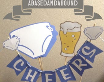 Babies and Beer - Diapers And Beer - Huggies And Chuggies - Baby Shower- Octoberfest Banner