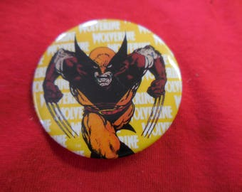 1989 Wolveriner Pin Back Button Marvel X-Men 80s
