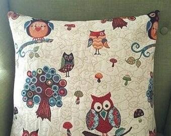 OWL handmade unique pillow