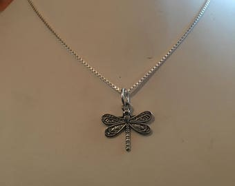 Dragon Fly pendant and chain