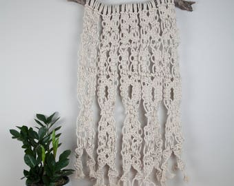 White Natural Cotton Rope Macrame