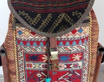Nomadic Kilim Carpet Bag