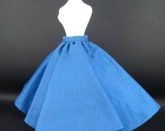 """Vintage Circa 1990 BillyBoy Mdvanii Doll Le Smart Set """"Jupe Ample"""" No.23  Blue full skirt"""