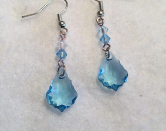 Handmade aqua blue earrings