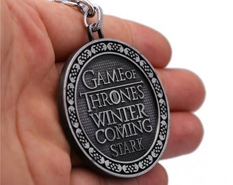 Game of Thrones keychain, Keychain,Game of Thrones,Stark,Winter is Coming, Key Chain