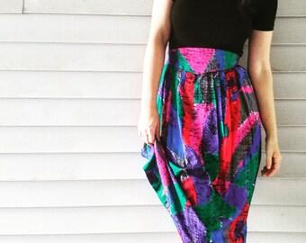 Flattering Abstract A-Line Skirt