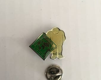 Earth Day Pinback Pin - Metal and Enamel - Vintage from 1990