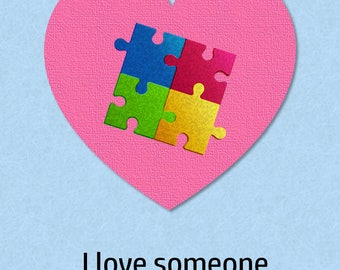 1 Card: Super-supporter autographed autism greeting card