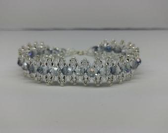Clear Blue Crystal Bracelet