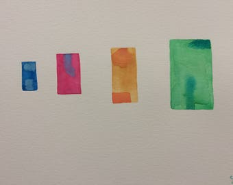 "Watercolor, ""4 of Us"""