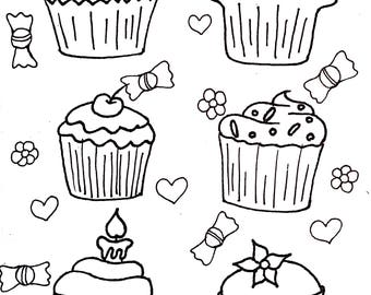 Printable card - Cupcake party