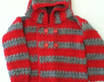 Infant hooded sweater 9-12 months
